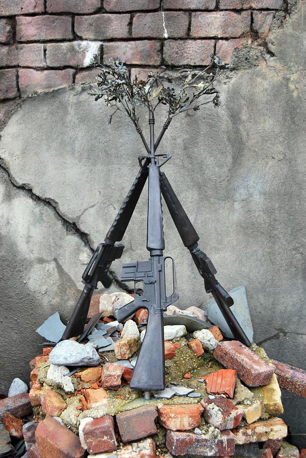 Guns Of War - Color Photograph
