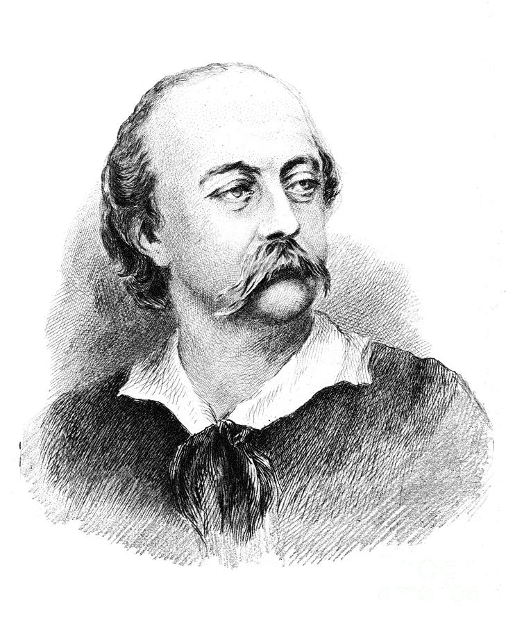 Gustave Flaubert, French Author Photograph  - Gustave Flaubert, French Author Fine Art Print