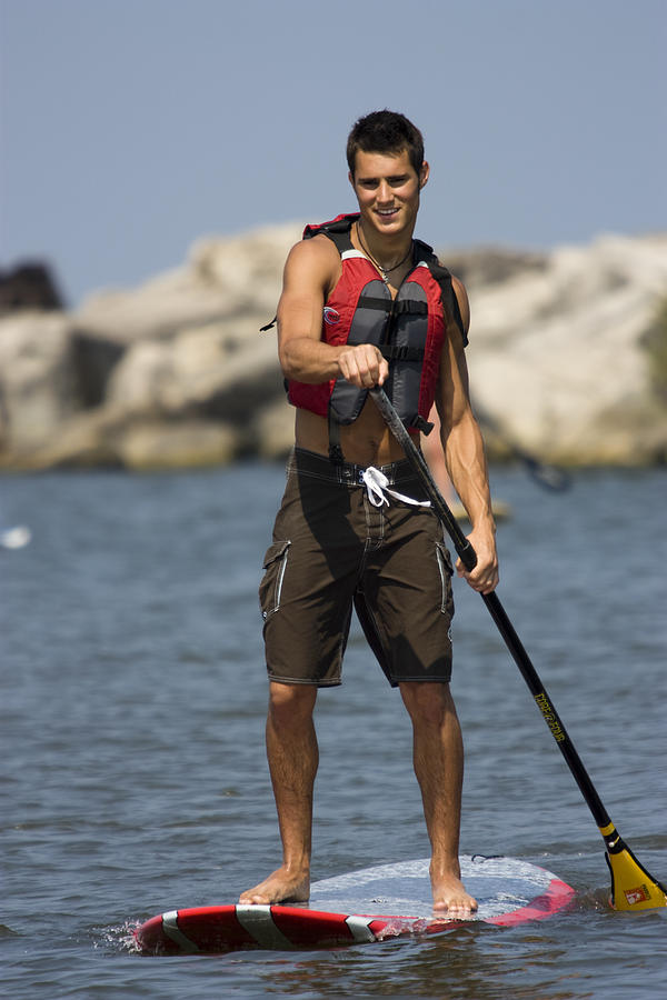 Guy Paddling On Paddleboard Photograph  - Guy Paddling On Paddleboard Fine Art Print