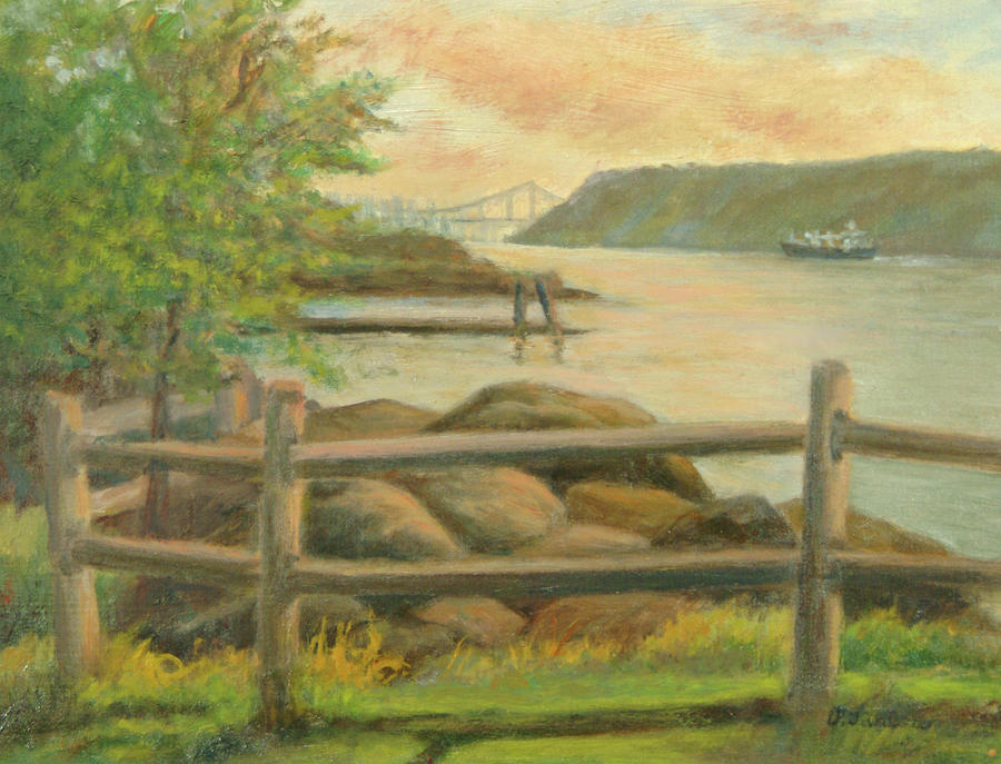 Gwb From Hastings Painting  - Gwb From Hastings Fine Art Print