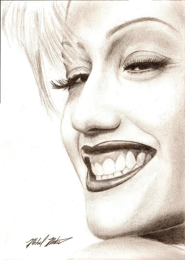 Gwen Drawing - Gwen Stefani by Michael Mestas