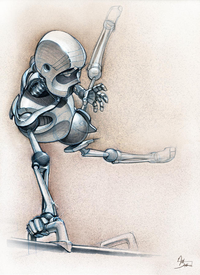 Gym-bot Pommels Drawing  - Gym-bot Pommels Fine Art Print