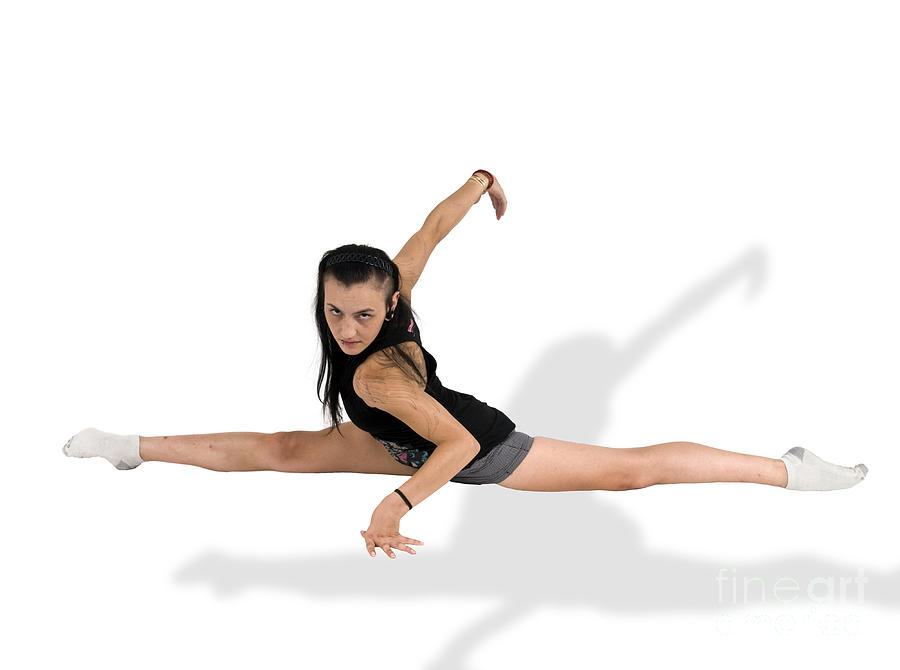 Gymnast Does The Splits  Photograph  - Gymnast Does The Splits  Fine Art Print