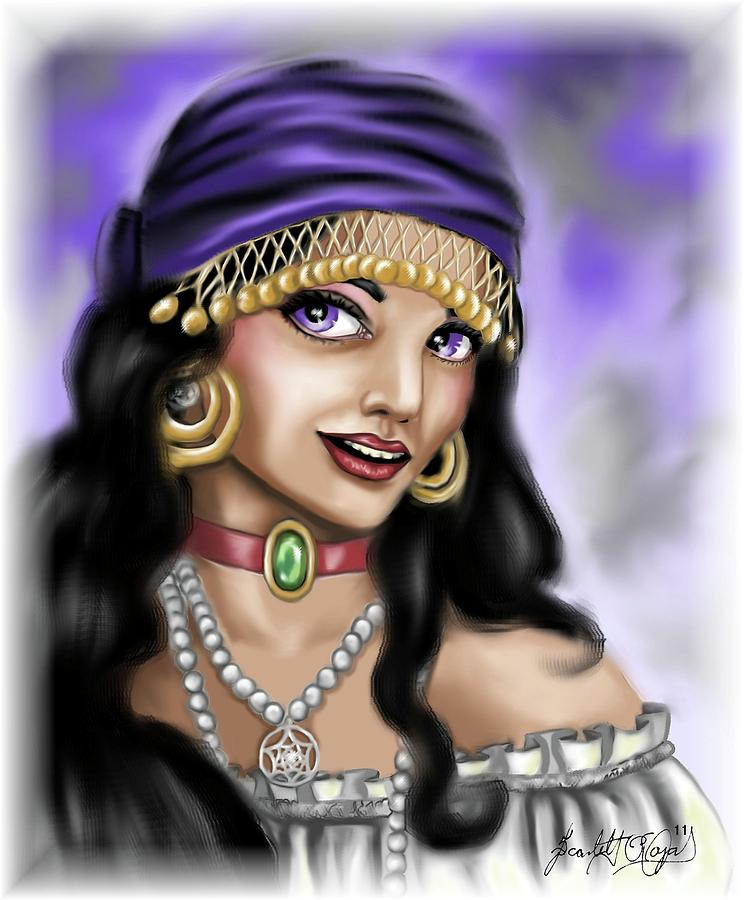 Gypsy Digital Art  - Gypsy Fine Art Print