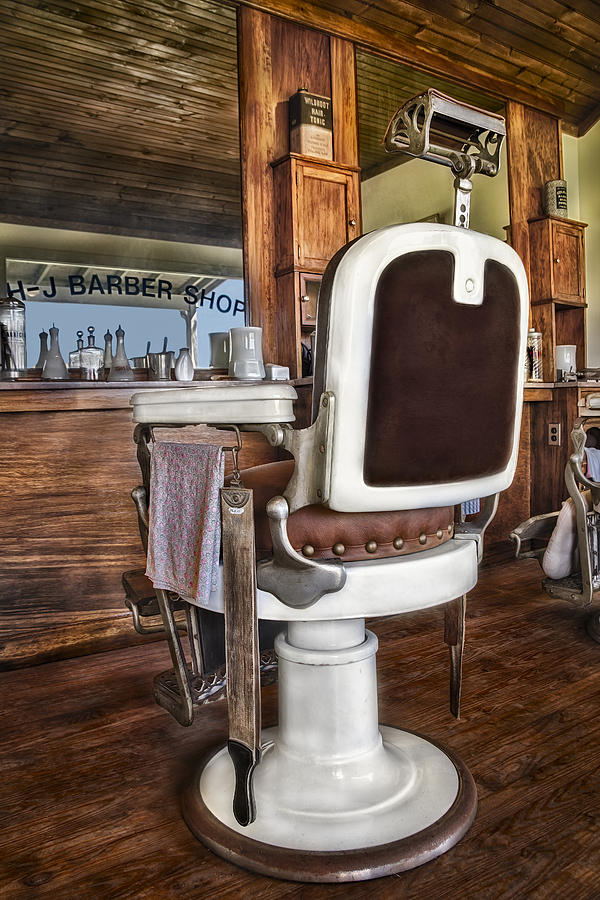 H J Barber Shop Photograph  - H J Barber Shop Fine Art Print