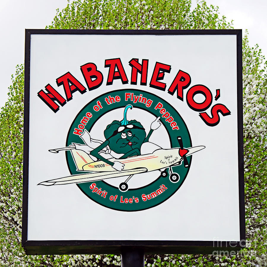 Habaneros Home Of The Flying Pepper Sign 1 Photograph  - Habaneros Home Of The Flying Pepper Sign 1 Fine Art Print