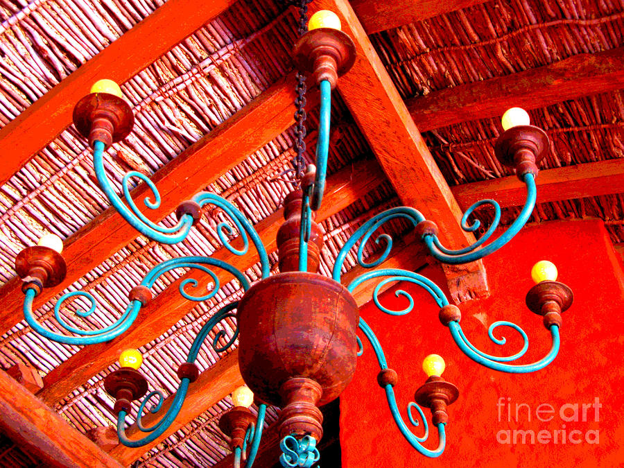 Hacienda Chandelier By Michael Fitzpatrick Photograph  - Hacienda Chandelier By Michael Fitzpatrick Fine Art Print