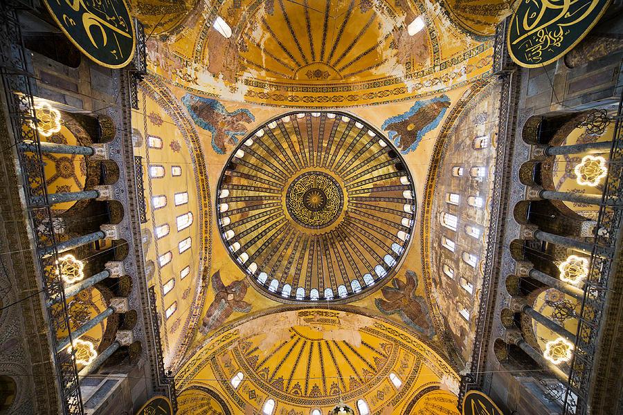 Hagia Sophia Ceiling Photograph
