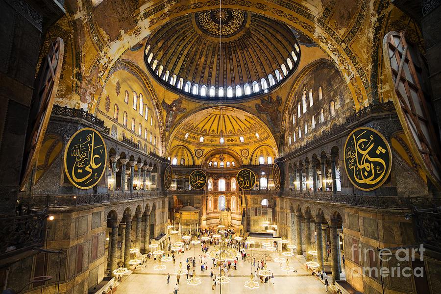Hagia Sophia Interior Photograph