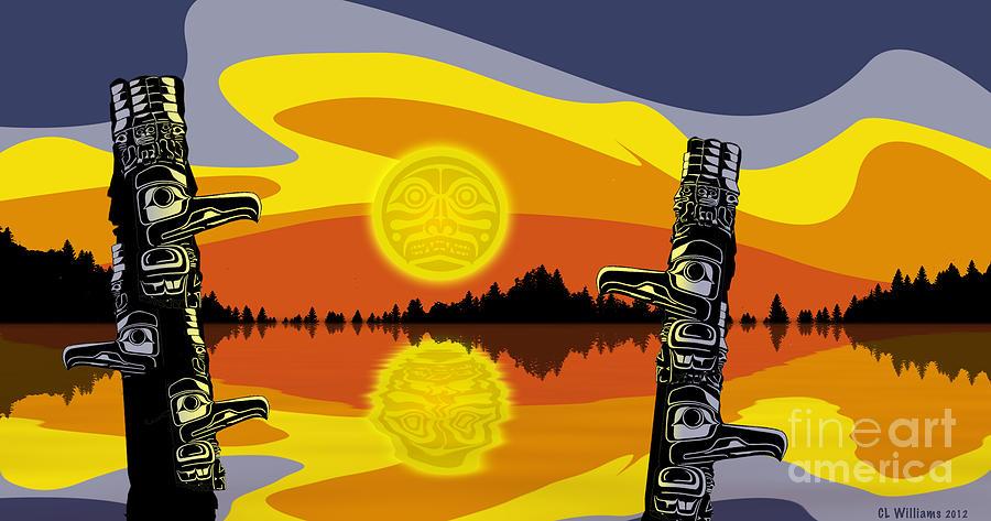Haida Sunset Digital Art