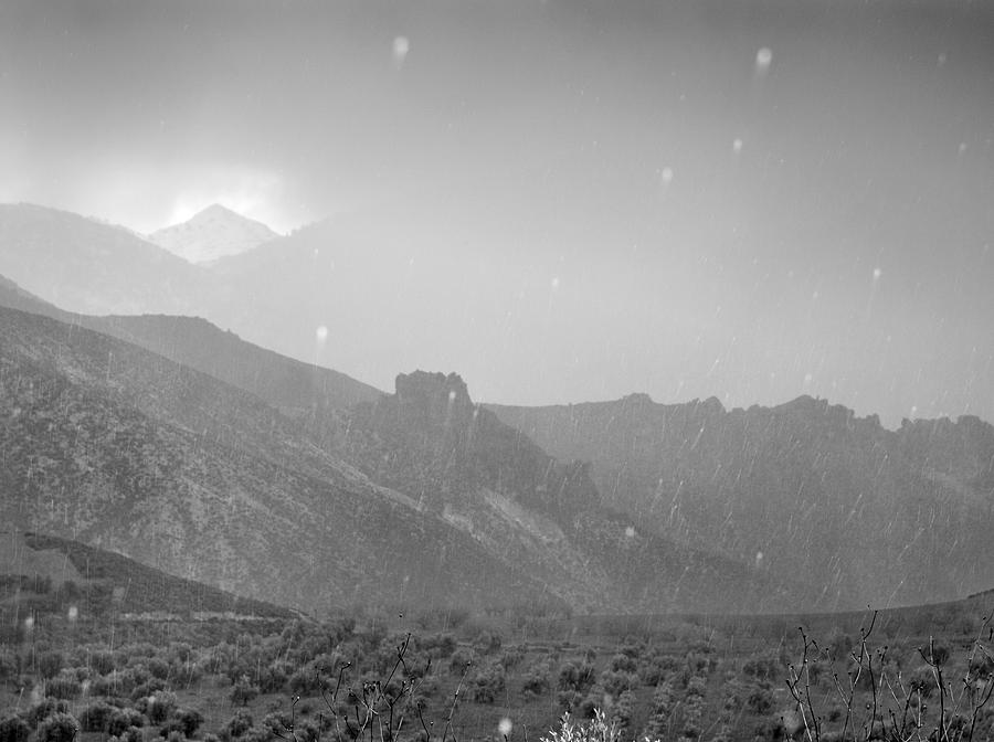 Hail Storm In The Mountains Photograph  - Hail Storm In The Mountains Fine Art Print