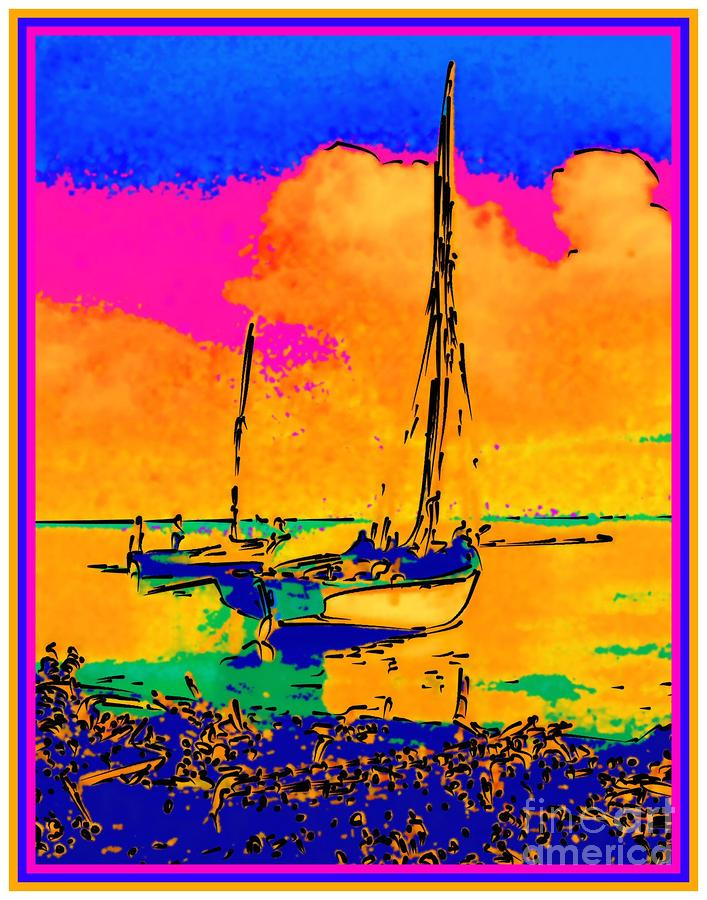 Haitian Fishing Boats Painting  - Haitian Fishing Boats Fine Art Print