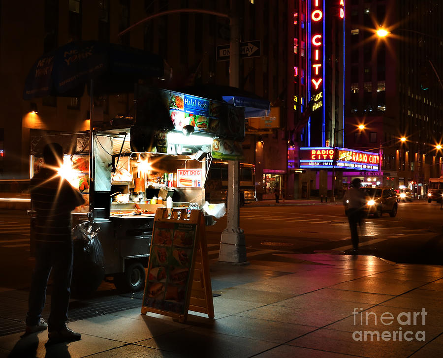 Halal Vendor At Radio City Music Hall Photograph