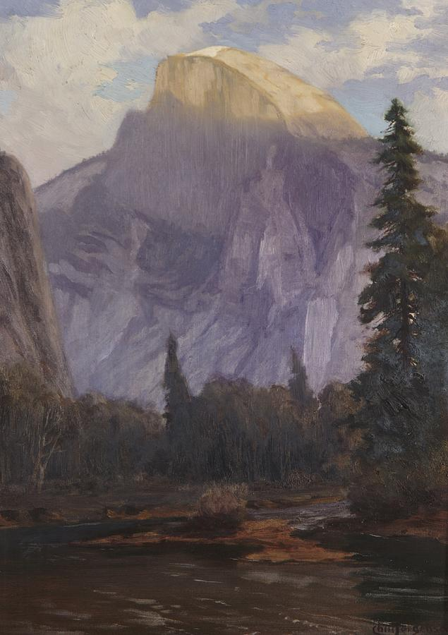 C19th Painting - Half Dome by Christian Jorgensen