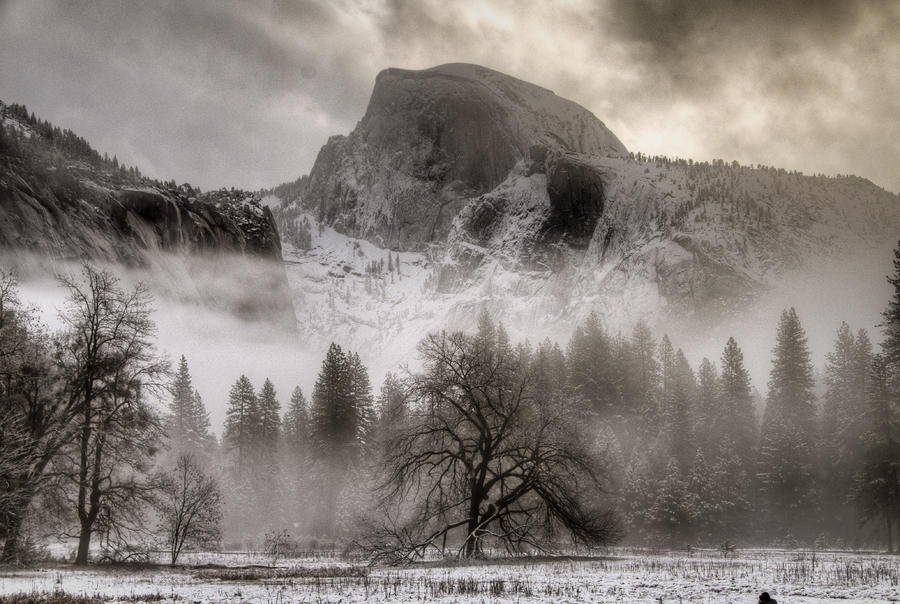 Half Dome In Winter Photograph