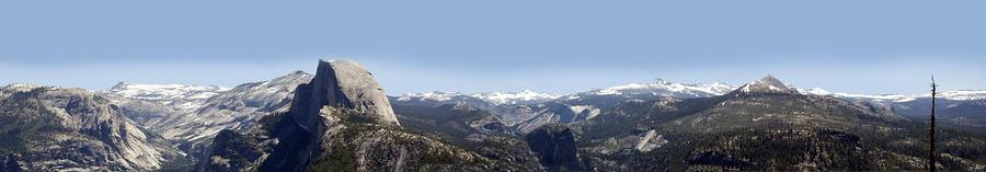 Half Dome Panorama Photograph