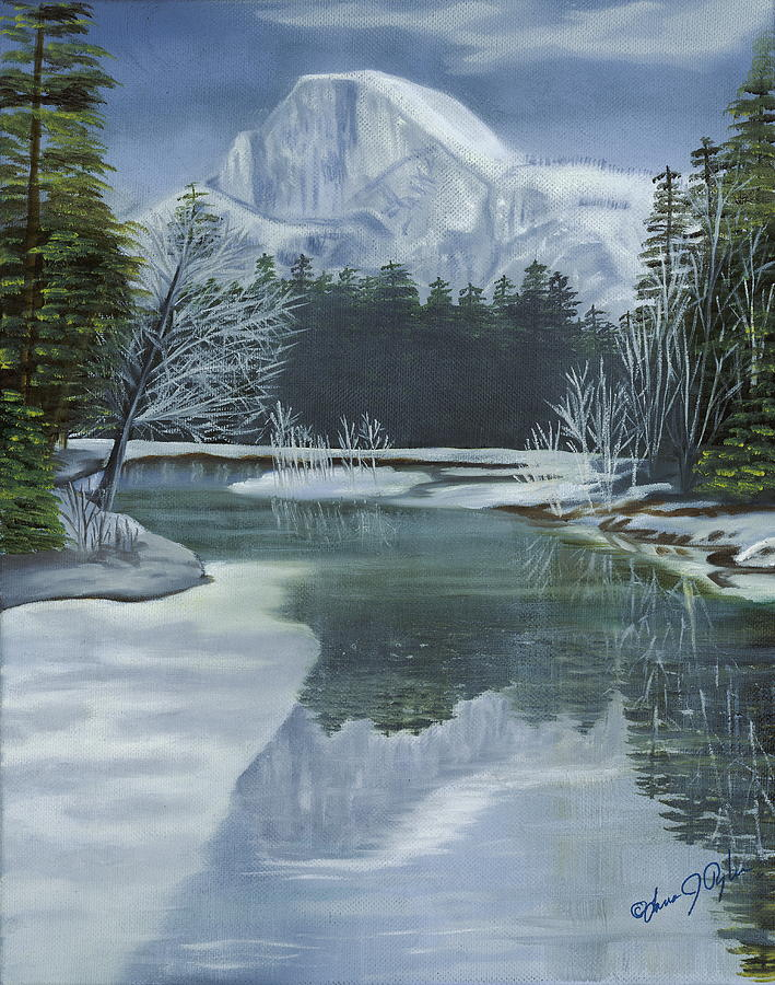 Landscape Painting - Half Dome Reflections by Lana Tyler