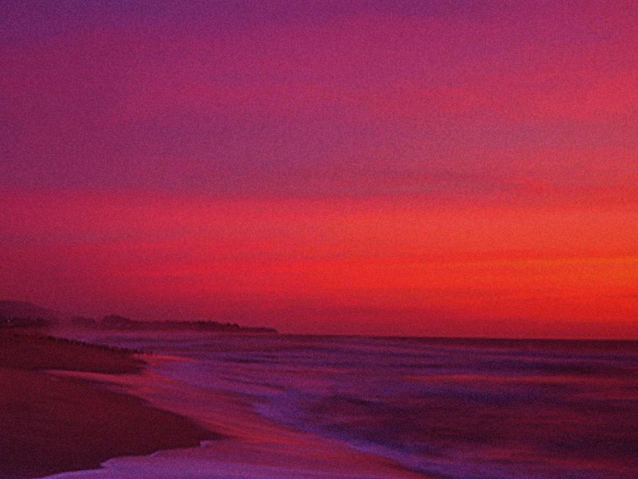 Half Moon Bay Sunset Photograph