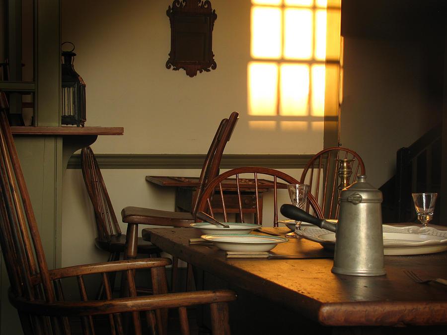 Colonial Inn Newtown Photograph - Half Moon Inn Interior by Mark K