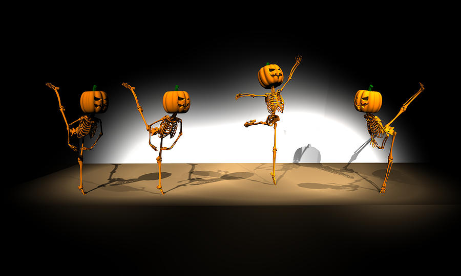 Halloween Ballet Digital Art