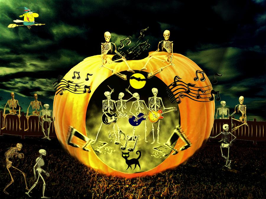 Halloween Concert With The Fab 4 Digital Art