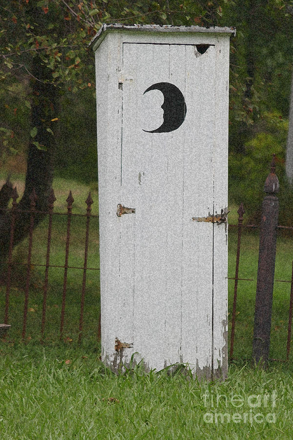 Halloween Outhouse Photograph  - Halloween Outhouse Fine Art Print