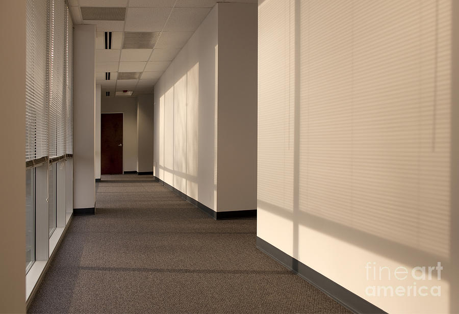 Hallway Of An Office Building Photograph  - Hallway Of An Office Building Fine Art Print
