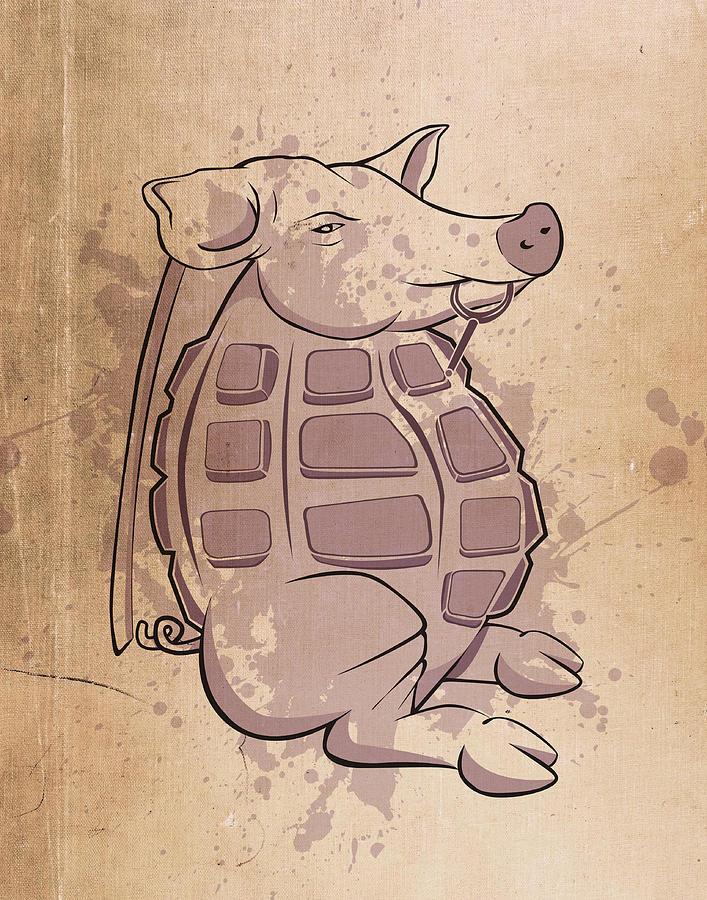 Ham-grenade Digital Art