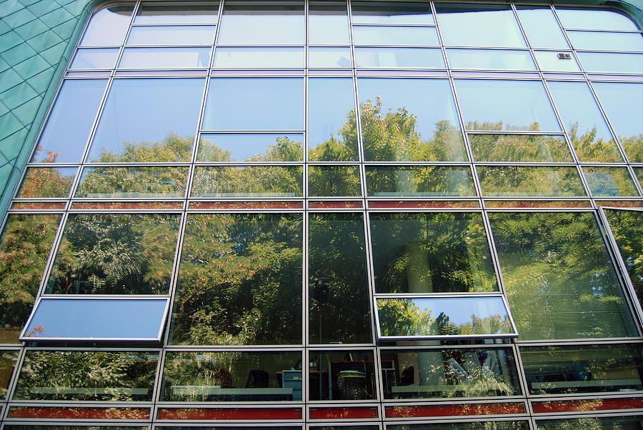 Hamburg Building Reflection Digital Art