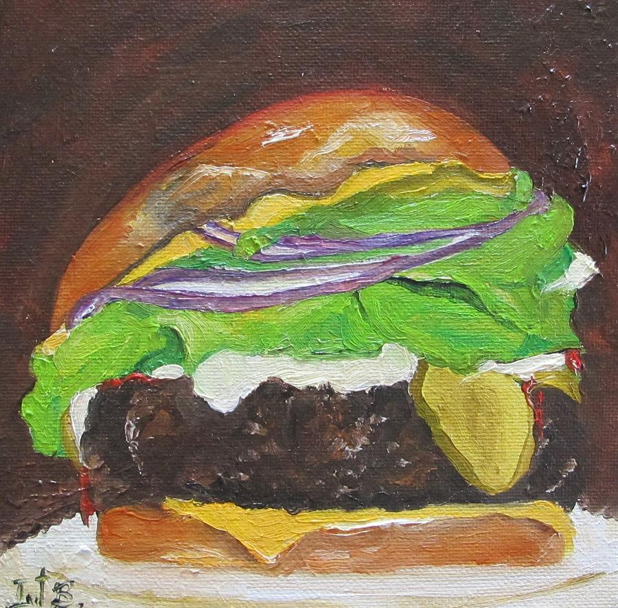 Hamburger Heaven Painting