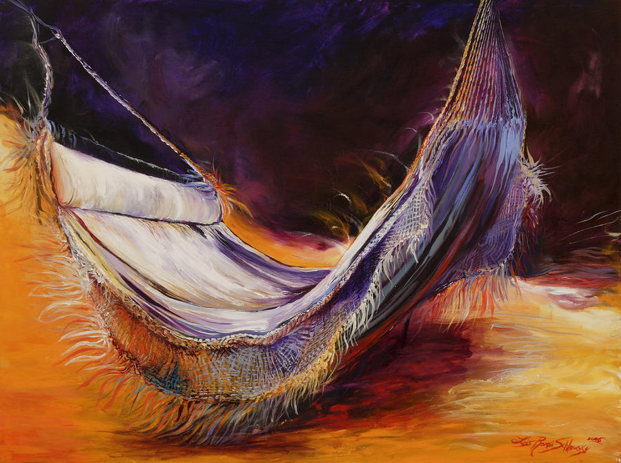 Hammock At Sunset Painting  - Hammock At Sunset Fine Art Print