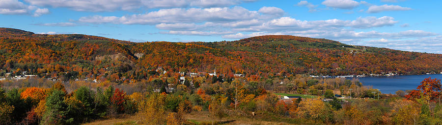 Hammondsport Panorama Photograph  - Hammondsport Panorama Fine Art Print