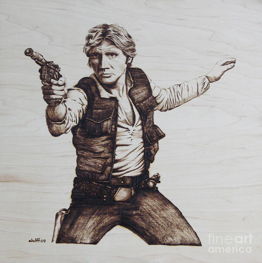 Han Solo Pyrography