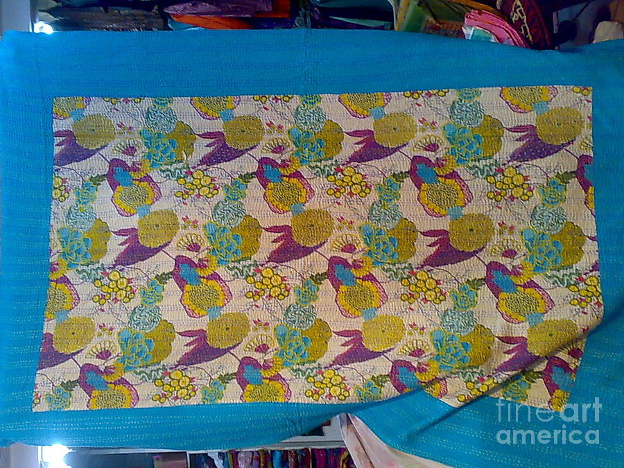 Hand Made Kanth Bed Cover Tapestry - Textile