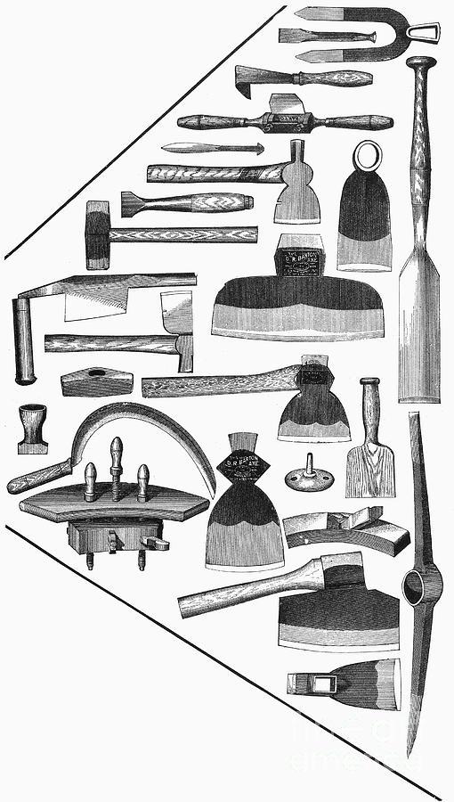 Hand Tools, 1876 Photograph