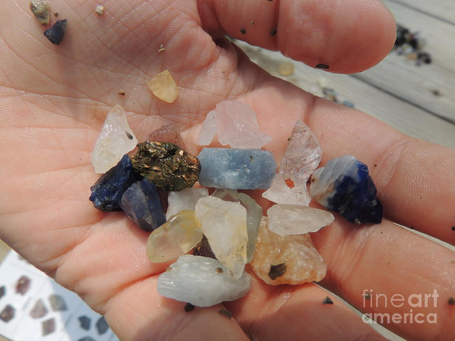 Handfull Of Panned Gemstones Photograph  - Handfull Of Panned Gemstones Fine Art Print