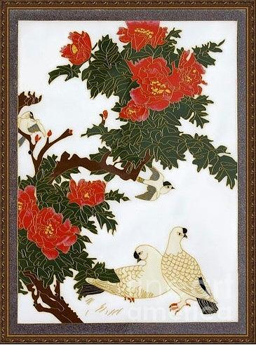 China Folk Art Painting - Handicrafts Cloisonne Painting by Yingchen