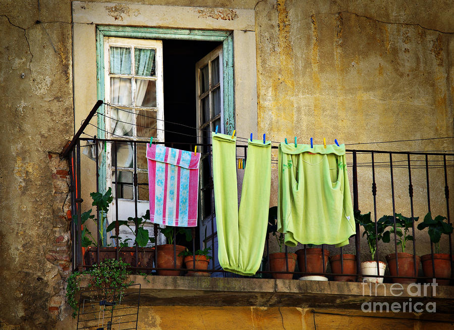 Hanged Clothes Photograph  - Hanged Clothes Fine Art Print