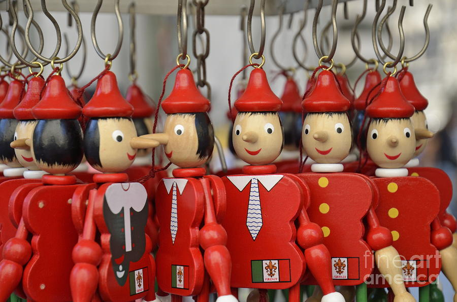 Order Photograph - Hanging Pinocchios Puppets by Sami Sarkis