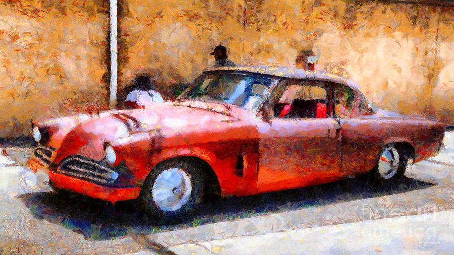 Hanging With My Buddy . 1953 Studebaker . Painterly . 5d16513 Photograph  - Hanging With My Buddy . 1953 Studebaker . Painterly . 5d16513 Fine Art Print