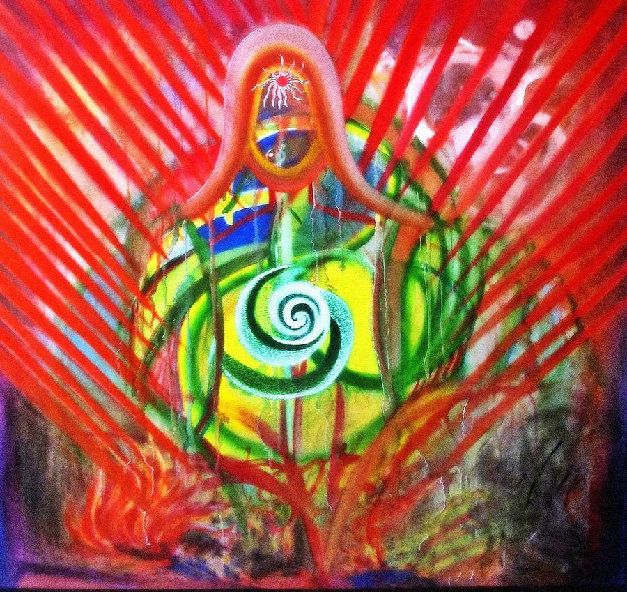 Meditation Painting - Happen by Dhiraj Parashar