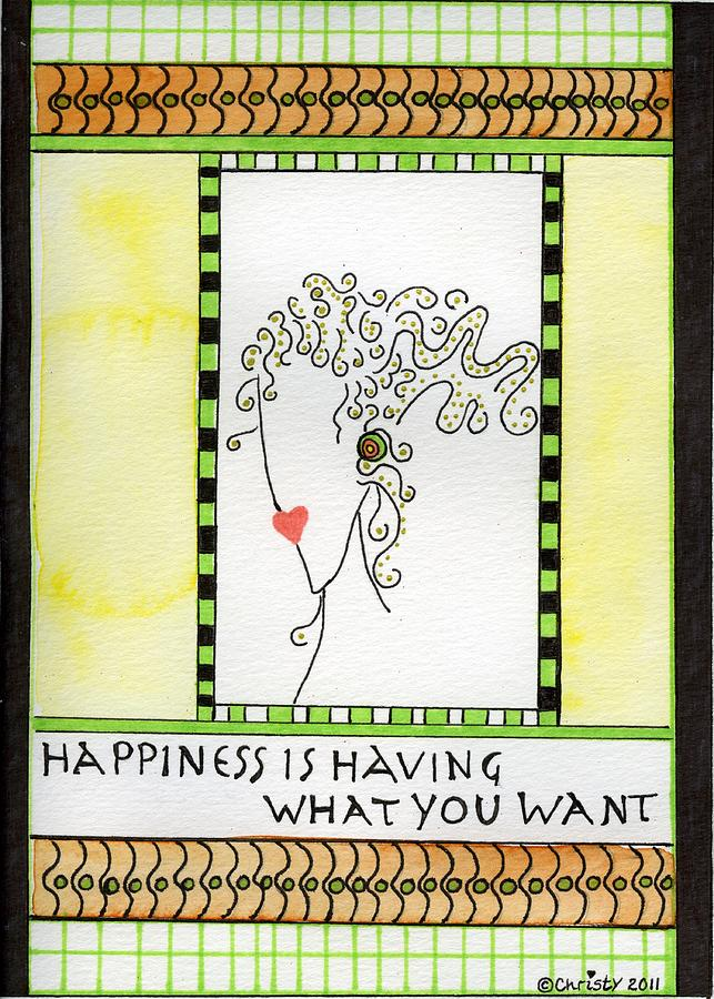 Happiness Painting  - Happiness Fine Art Print