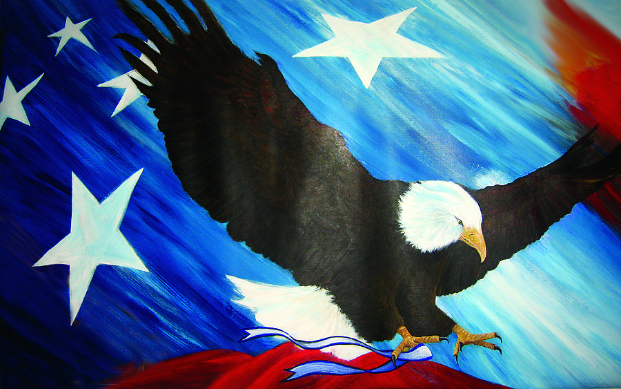 Happy 4th Of July Painting