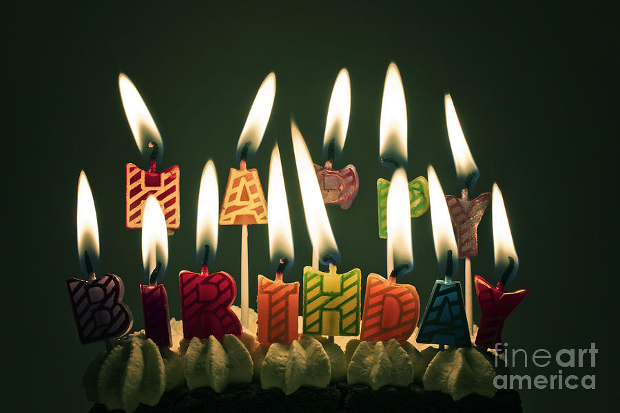 Happy Birthday Photograph  - Happy Birthday Fine Art Print