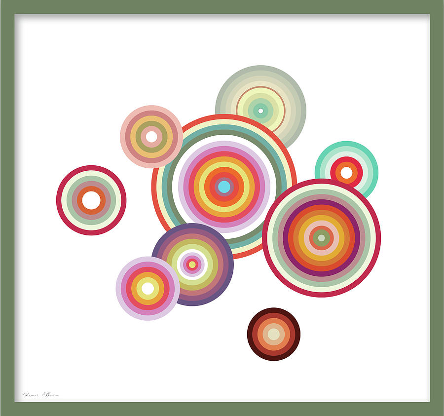 Happy Circles Digital Art