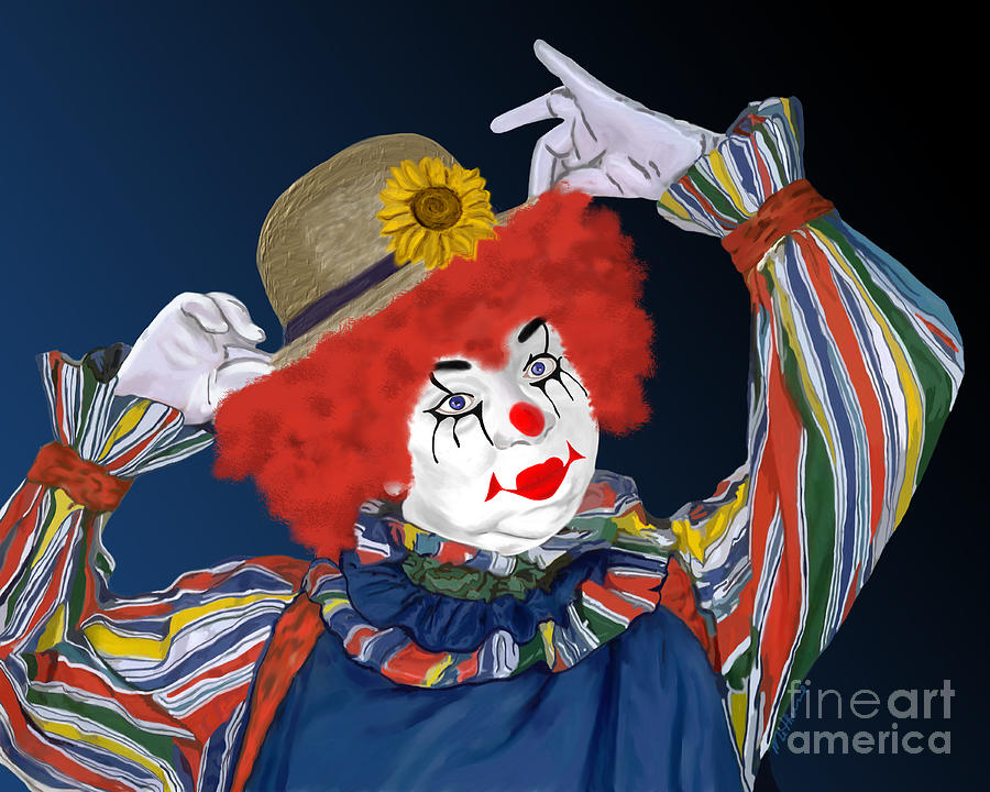 Happy Clown Painting by Methune Hively - Happy Clown Fine Art ...