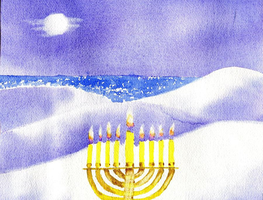 Happy Hanukkah Painting  - Happy Hanukkah Fine Art Print
