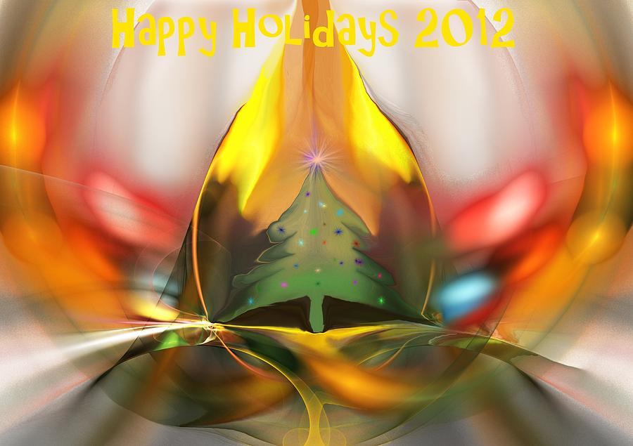 Xmas Digital Art - Happy Holidays 2012 by David Lane