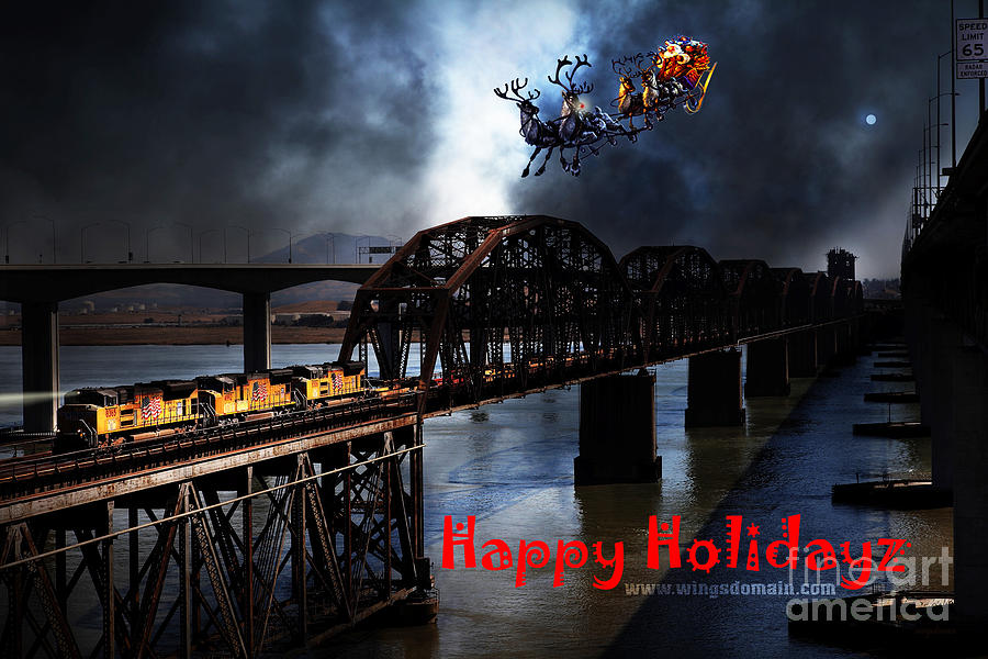 Happy Holidays - Once Upon A Time In The Story Book Town Of Benicia California - 5d18849 Photograph  - Happy Holidays - Once Upon A Time In The Story Book Town Of Benicia California - 5d18849 Fine Art Print