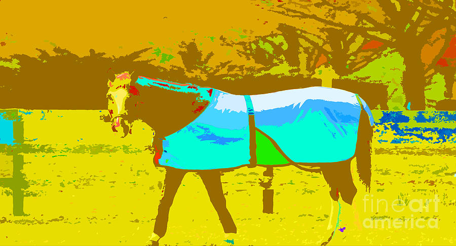 Happy Horse Pop Art Mixed Media  - Happy Horse Pop Art Fine Art Print